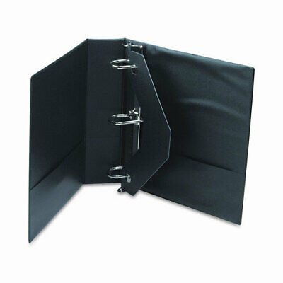 Universal D-ring 3-ring Binder With Label Holder 2 In. Capacity Black Ea - Un