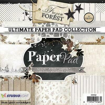 Paper-pad Papier-block Frozen Forest Weihnacht Winter 15x15 Studiolight PPFF87