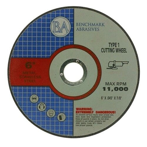 """6""""x.045""""x7/8"""" Quality Thin Cut Off Wheel Stainless 100"""