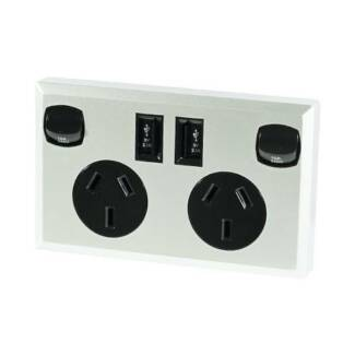10A Double Australian USB Power Point Supply 2 Socket Switch Wall