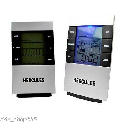 Hercules ~~ Weather Multi-Function LCD Alarm Clock,Calendar,Temperature,Forecast