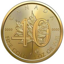2019 1 oz 40th Anniversary Canadian Gold Maple Leaf Coin (BU)