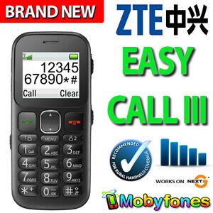 BRAND NEW UNLOCKED TELSTRA EASY CALL 3 NEXT G BLUE TICK SENIORS LARGE KEYS PHONE