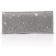 Silver Diamante Clutch Purse
