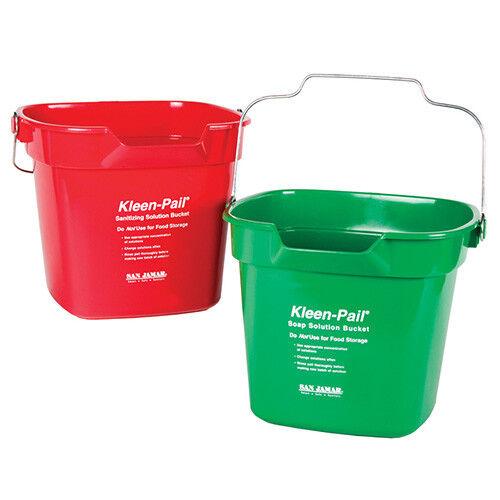 Klean-Pail Soap/Sanitizing Solution Safety Pail 10 Quart, With Pour Spout, Green