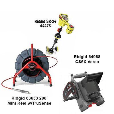 Ridgid 200 Mini Reel 63633 Seektech Sr-24 Locator 44473 Cs6x Versa 64968