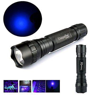 Portable UV Flashlight 365nm Blacklight Ultraviolet Light Pet Urine Detector US