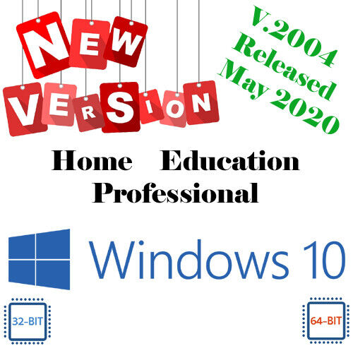 Windows 10 - All Versions 32 or 64bit DVD Install ~ Repair ~ Recover ~ Upgrade