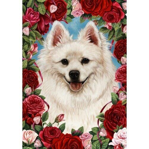 Roses Garden Flag - American Eskimo 191261