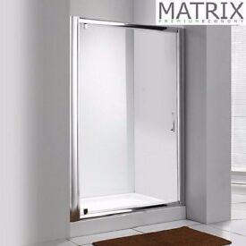 Matrix 700mm Framed Pivot Shower Door 6mm Glass - QPEPV70