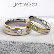 Stainless Steel Wedding Band Set