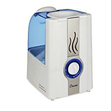 CRANE Slate Warm Mist Humidifier Clean Control 1 Gallon Blue and White EE5201W