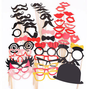 50pcs-DIY-Party-Masks-Photo-Booth-Props-Mustache-On-A-Stick-Wedding-Party-Favor