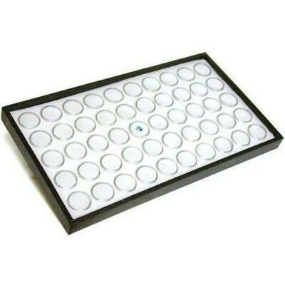 50 White Foam Gem Jars Showcase Stackable Display Tray