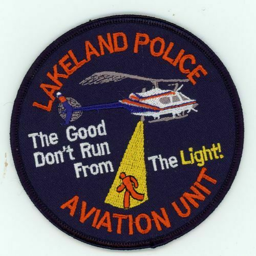 LAKELAND POLICE FLORIDA FL POLICE AVIATION UNIT NICE NEW COLORFUL PATCH SHERIFF