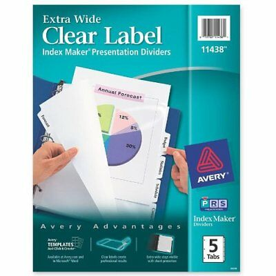 Avery Index Maker Extra-wide Tab Divider - Blank - 5 Tabsset - 9 X 11 - 5