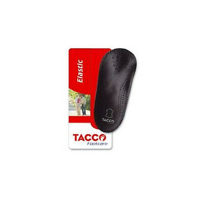 TACCO 750 3/4 Elastic Black Orthotic Arch Support Leather Sh