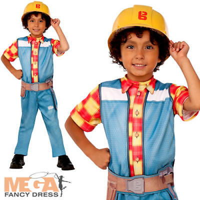 Bob the Builder Boys Costume TV Character Cartoon Childs Kids Fancy Dress Outfit](Costume Builder)