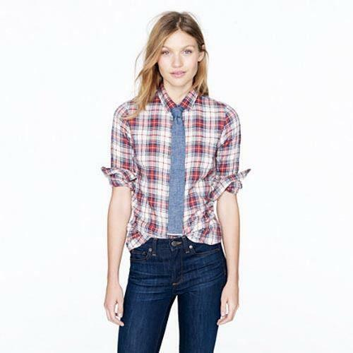 J Crew Perfect Shirt Tartan | eBay