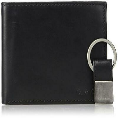 Calvin Klein Men's RFID Blocking Leather Bifold Wallet, Deep Black, One Size