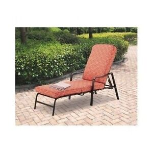 Outdoor Chaise Lounge Adjustable Patio Pool Fabric Lawn