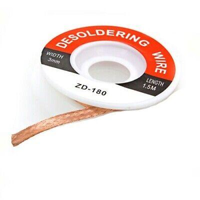 3 Mm .12 Desoldering Desoldador Wire Solder Iron Wick Copper Braid 5