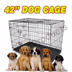 """Brand New 42"""" XLarge Collapsible Metal Pet Dog Puppy Cage Crate Maylands Bayswater Area Preview"""
