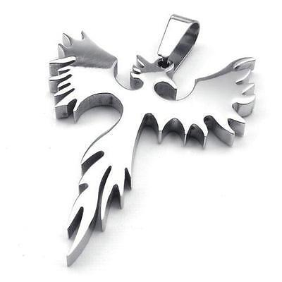Pendant phoenixebay 1 mens womens stainless steel pendant necklace chain phoenix bird firebird biker mozeypictures Image collections