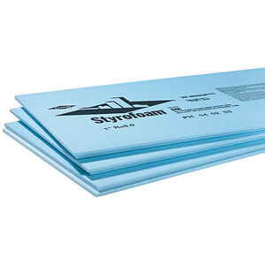 "1.5"" x 2' x 8' Styrofoam blue sheets"