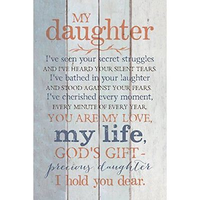 New Dexsa My Daughter New Horizons Wood Plaque With Easel Dx8733