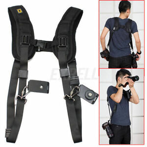 Professional Double Dual Shoulder Belt Harness For DSLR