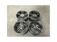 """19"""" alloy wheels alloys rims tyre tyres 5x120 BMW 1 2 3 4 5 series staggered"""