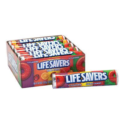 Lifesavers 5 fruit flavors Candy 10 rolls nostalgia retro candyland](Lifesaver Flavors)