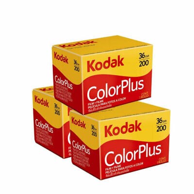 Kodak 6031470 Color Plus 200 135/36 Film (3 pack) fast post