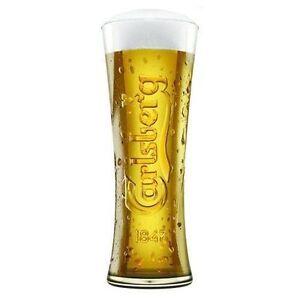 4x Carlsberg Reward Tall Beer Glass Half Pint 285ml 10oz Branded Beer Glass.
