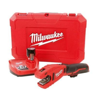 Copper Tubing Kit - Milwaukee 2471-21 M12 12-Volt Lithium-Ion Copper Tubing Cutter Kit w/ 1 Battery