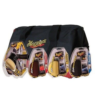 Meguiar's DA Power System Kit with Compound, Polish, Wax and Buffing Pads & Bag for sale  San Diego