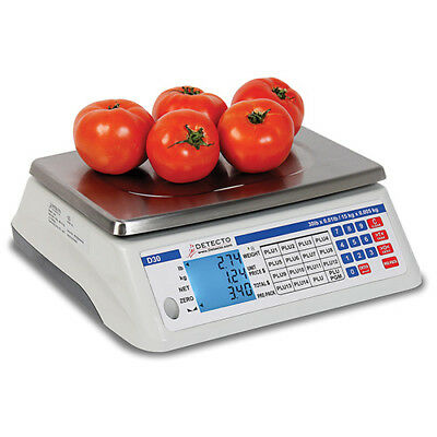 Detecto D30 Digital Price Computing Scale 30 Lbs.x.005 Lbs.