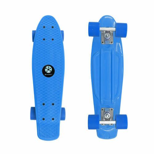 blue penny board skateboard w free t