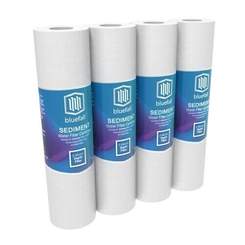 4 PACK 5 Micron Sediment Water Filters For Reverse Osmosis 10 in. x 2.5 in.