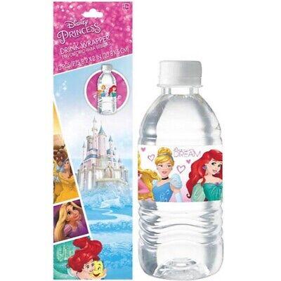 Disney Princess Parties (DISNEY PRINCESS Dream Big DRINK WRAPPERS (12) ~ Birthday Party Supplies)
