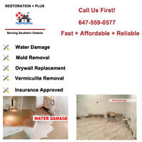 Certified Water Damage, Flood, Mold, asbestos remediation