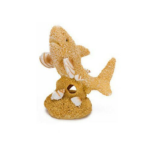 SAND & SHELL SHARK ORNAMENT 2x3x3.75in