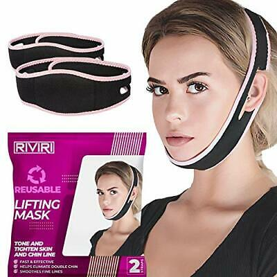 Pack of 2 Reusable Face Slimming Strap Pain-Free Face Liftin