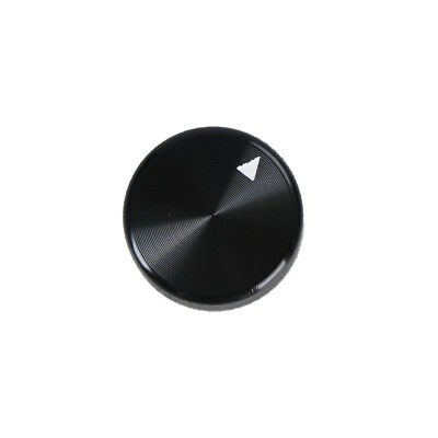 (Dia Black Aluminum Rotary Control Potentiometer Knob 20mm x 15.5mm BWHWC)