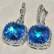 Blue Topaz Earrings 925