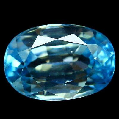 TOP ZIRCON : 3,53 Ct Natürlicher Blau Zirkon aus Kambodscha