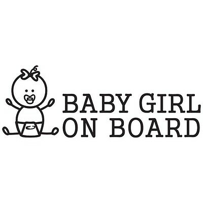 BABY GIRL ON BOARD FAMILY FIGURE BOY SIZE / COLOR VINYL DECAL STICKER (BB-08)