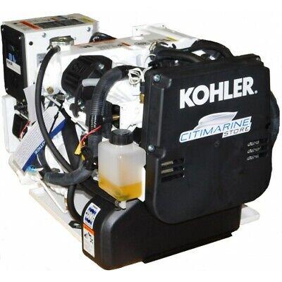 New Kohler 5ekd 5kw Marine Generator 60 Hz Single Phase 120v 12vdc Heat Exchange