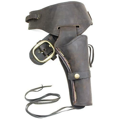 Old West Oiled Brown Fast Draw Leather Holster Collectible